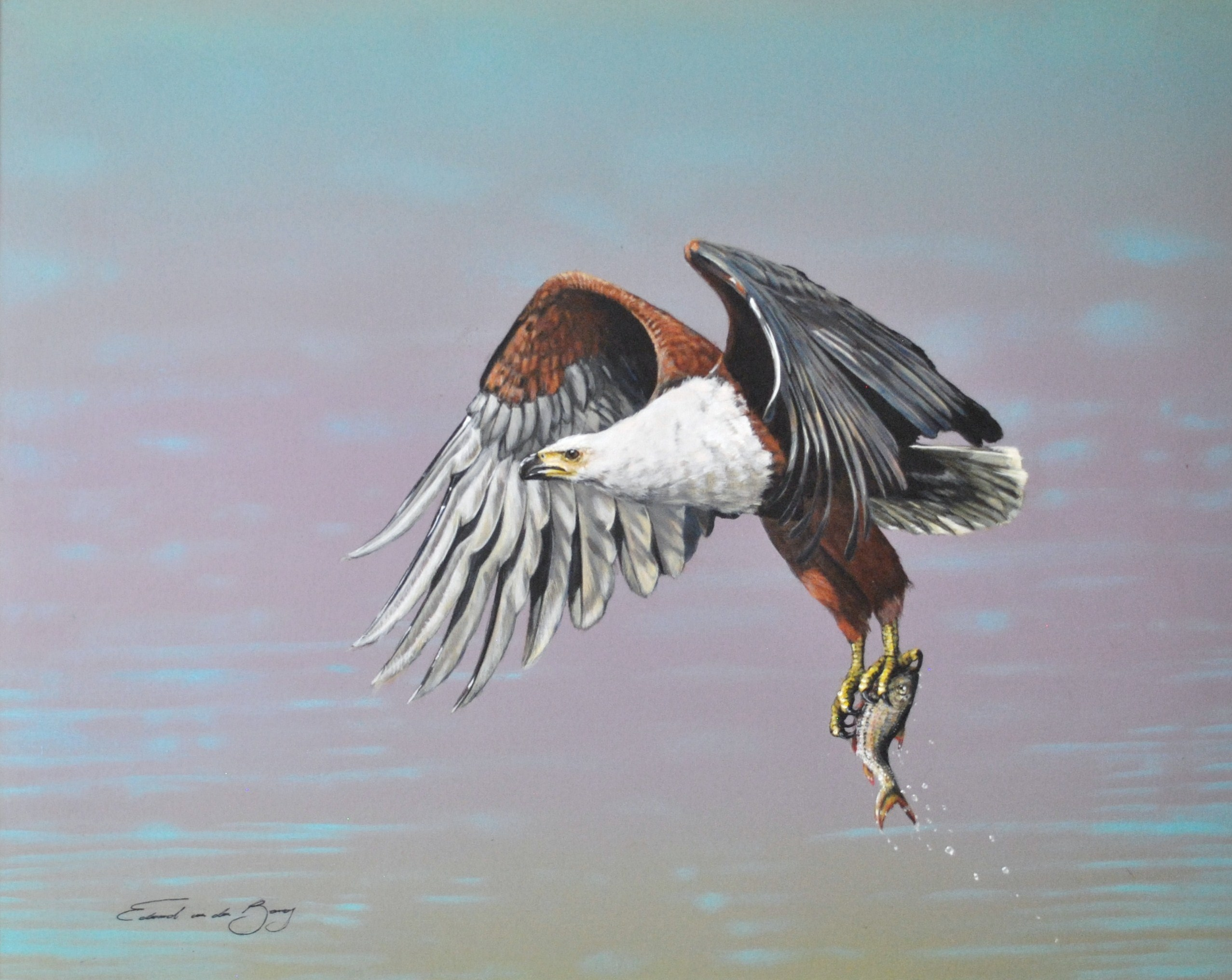 """First Catch"", 100cm x 80cm, Acrylic on Canvas"