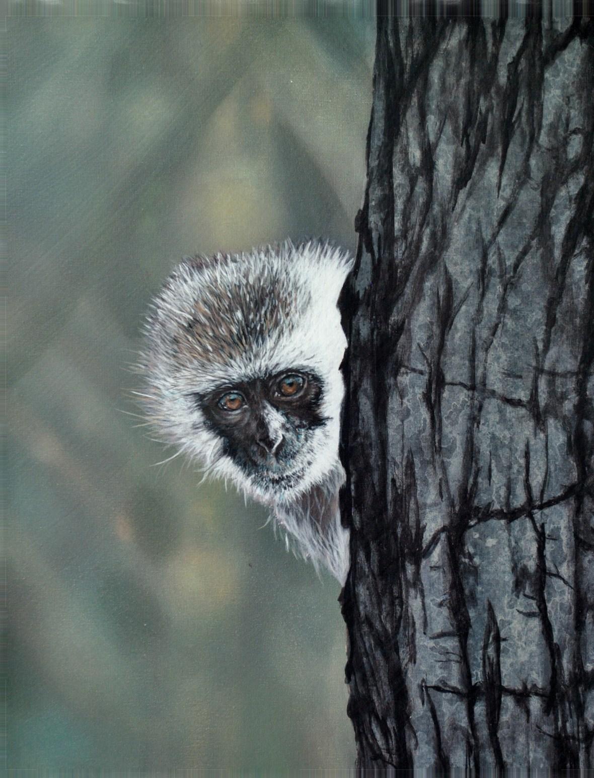 """Peeping Tom"", 40cm x 50cm, Acrylic on Canvas (SOLD)"