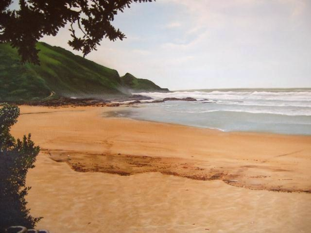 """Second Beach - Port St Johns"", 80cm x 75cm, Acrylic on Canvas, (SOLD)"