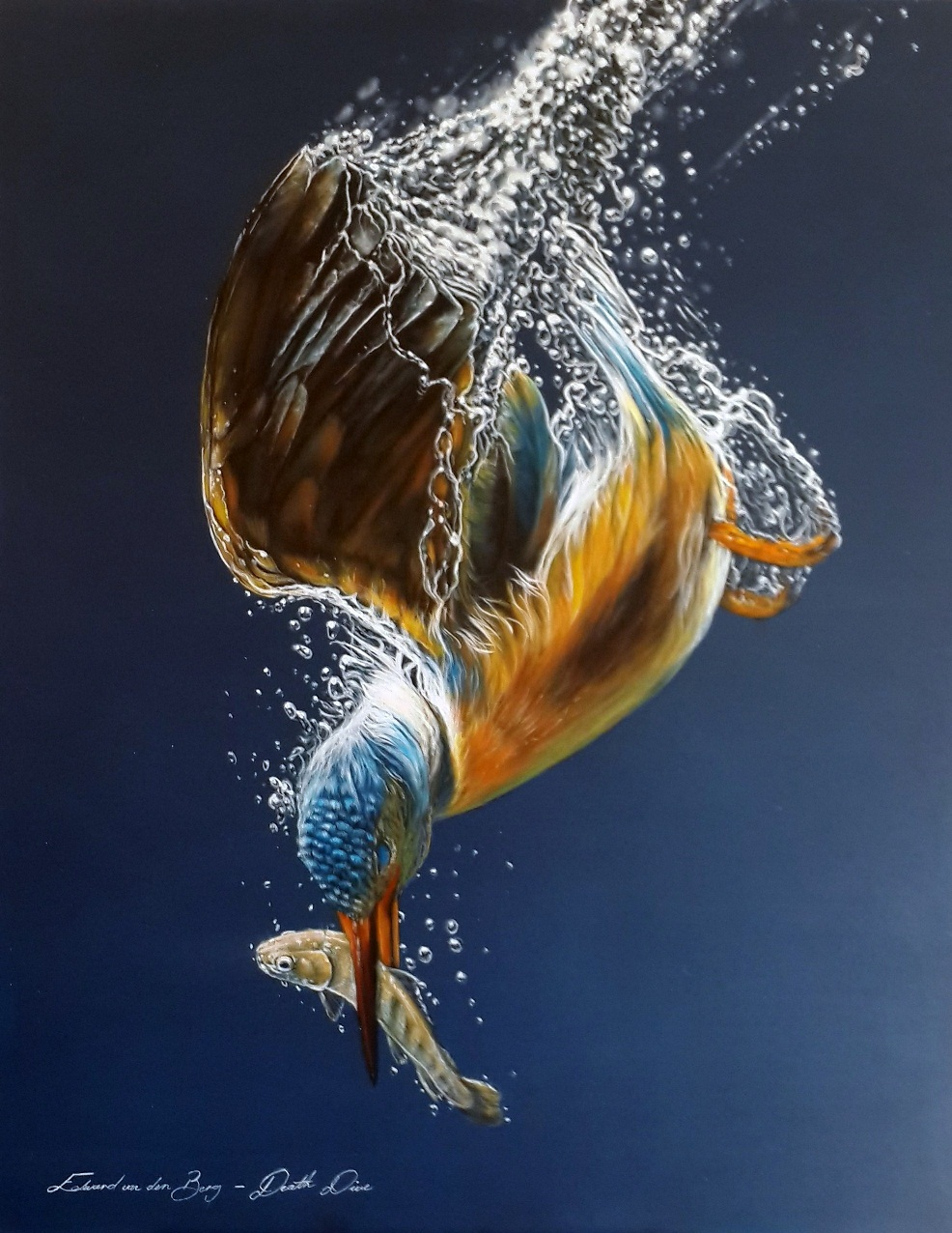 """Death Dive"", 127cm x 116cm, Acrylic on Canvas"