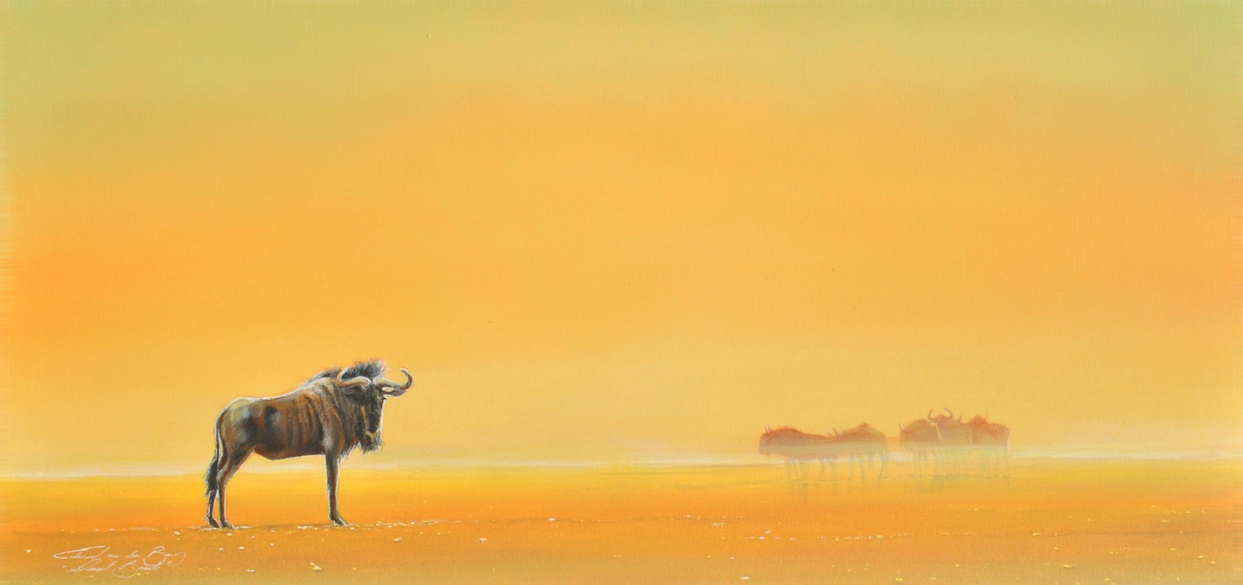 """Desert Beasts"",  (120cm x 70cm), Acrylic on Canvas"