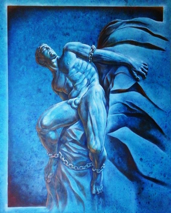 """Prometheus"", 127cm x 116cm, Acrylic on Canvas (SOLD)"