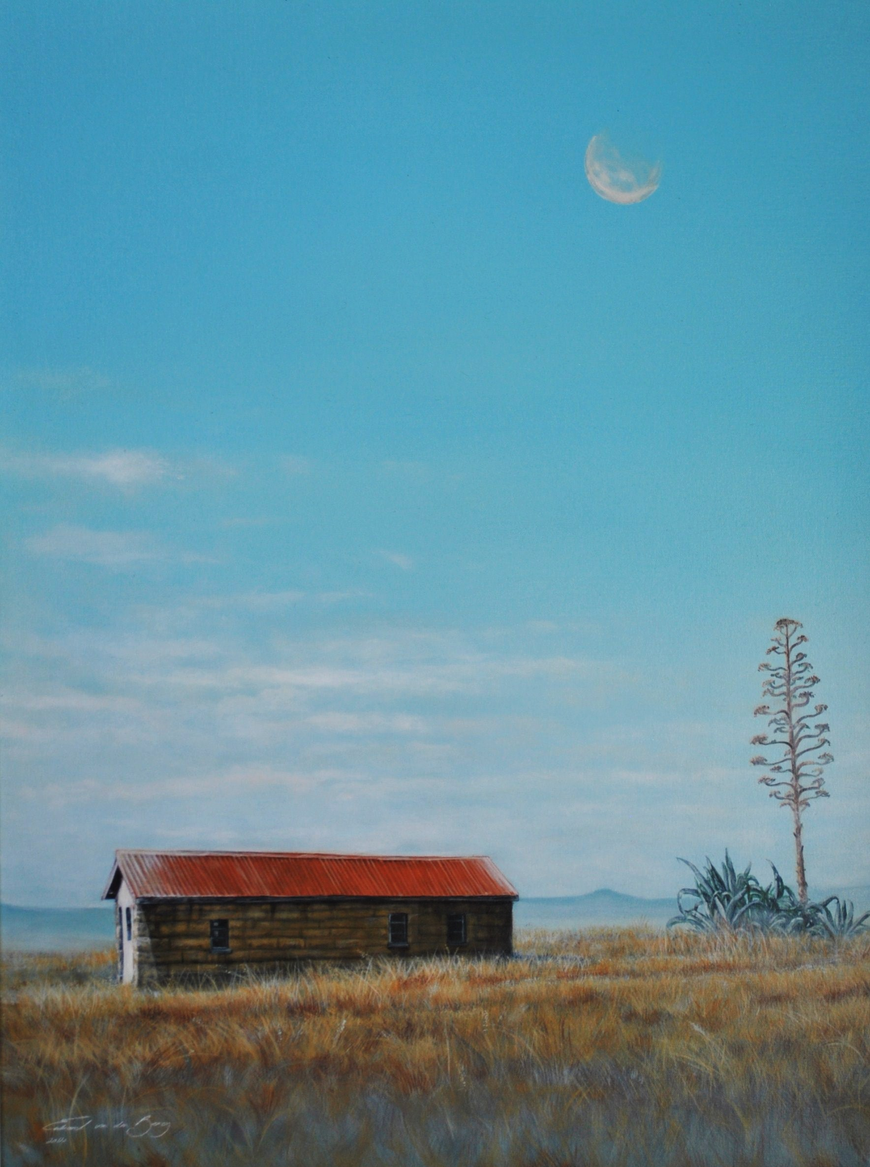 """The Red Barn"" (near Bethlehem to Paul Roux, N5), 90cm x 75cm, Acrylic on Canvas"